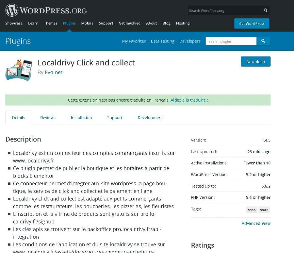 Plugin wordpress localdrivy